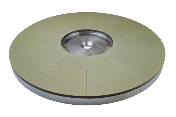 Resinous top & bottom flat honing and fine grinding wheel